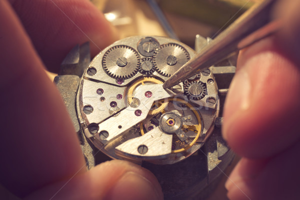 Working On A Mechanical Watch Stock photo © solarseven