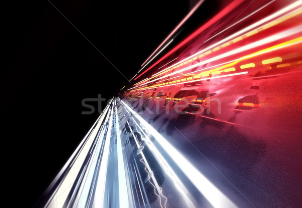Super snel licht streaming auto 3d illustration Stockfoto © solarseven