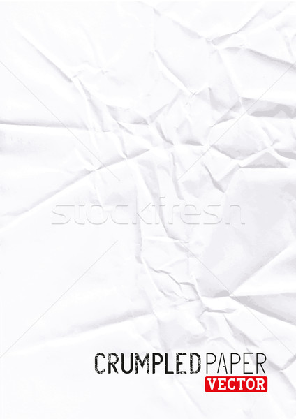 Crumpled Paper Vector Stock photo © solarseven