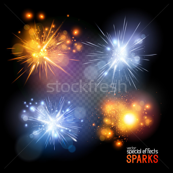 Vector Sparks Stock photo © solarseven