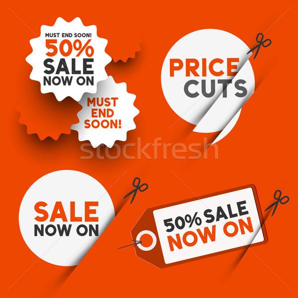 White sale signs Stock photo © solarseven
