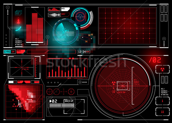 HUD display Elements Stock photo © solarseven