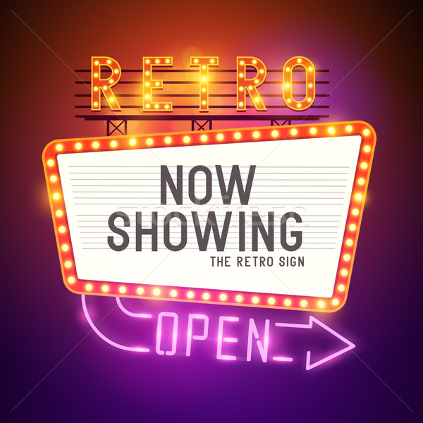 Retro Showtime Sign Vector Stock photo © solarseven