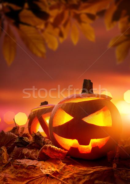 Stock photo: Halloween Jack-O-Lanterns