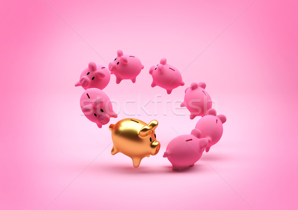 Savings Concept - Piggy Bank Stock photo © solarseven