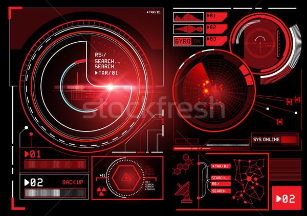 futuristic Information Interface Stock photo © solarseven