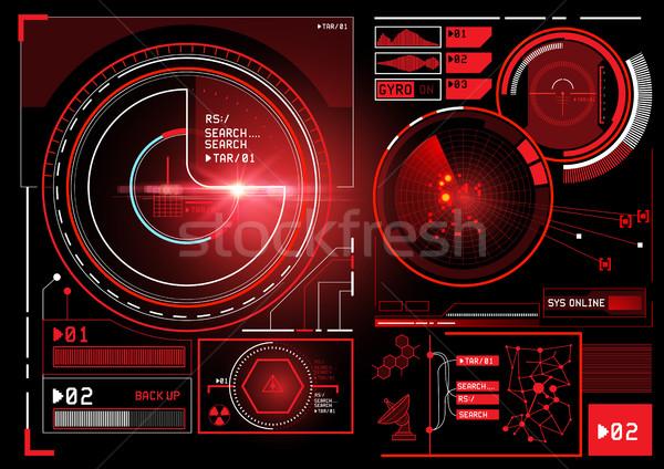 Futurisztikus információ interfész kirakat felhasználó terv Stock fotó © solarseven