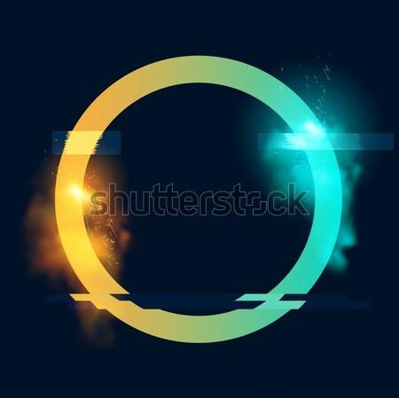 未来的な ベクトル ループ サークル 火の粉 ストックフォト © solarseven