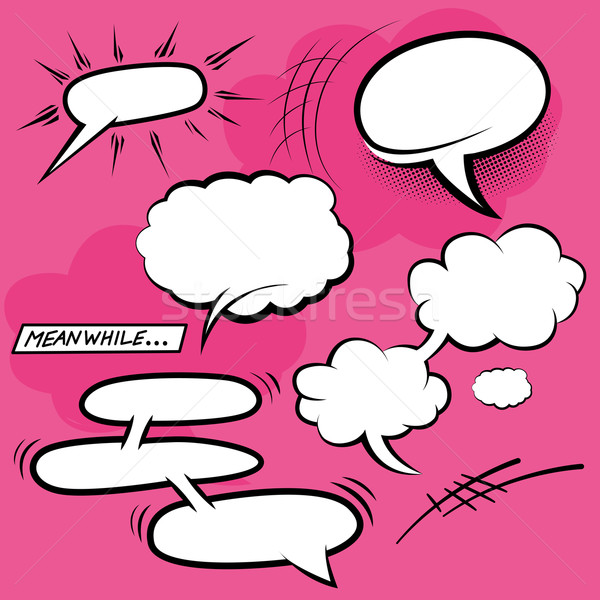 Comic Speech Bubbles Stock photo © solarseven