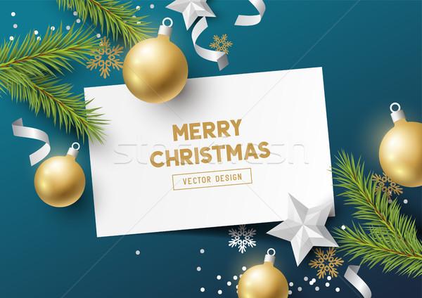 Festive Christmas Composition Stock photo © solarseven