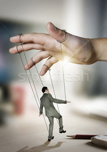 Businessman On Strings Stock photo © solarseven