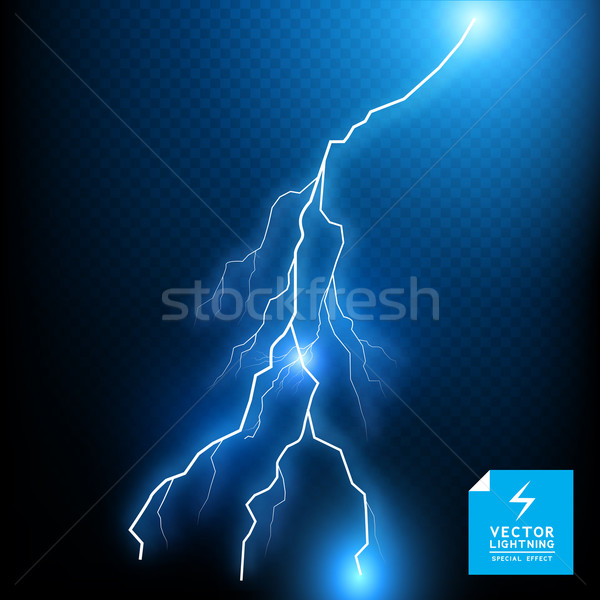 Blue Vector Lightning Bolt Stock photo © solarseven