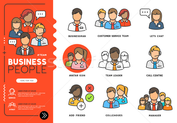 Business people Vector Icons Stock photo © solarseven