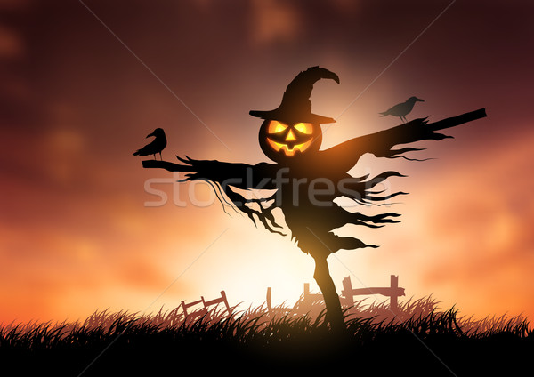 Autumn Scarecrow Stock photo © solarseven