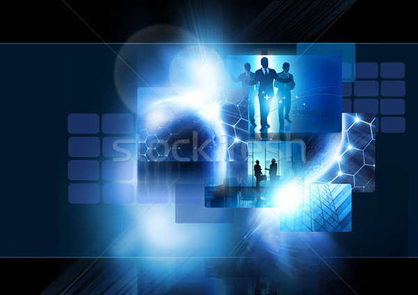 Commerce mondial communication mondial niveau image monde Photo stock © solarseven