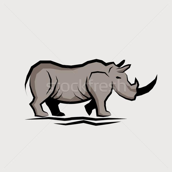 Wild Rhino Vector Stock photo © solarseven