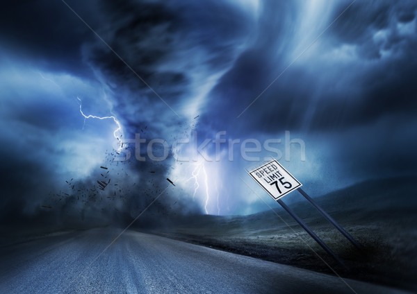 Powerful Storm and Tornado Stock photo © solarseven