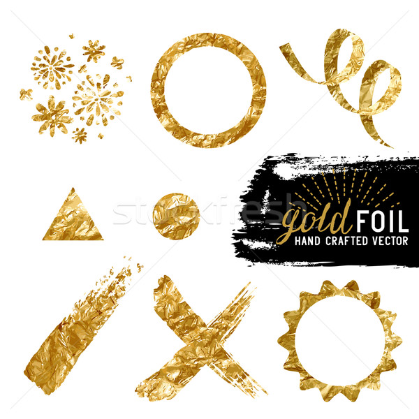 Vector Gold Foil Collection Stock photo © solarseven