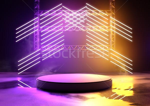 Izzó neon színpad koncert vágány termék Stock fotó © solarseven