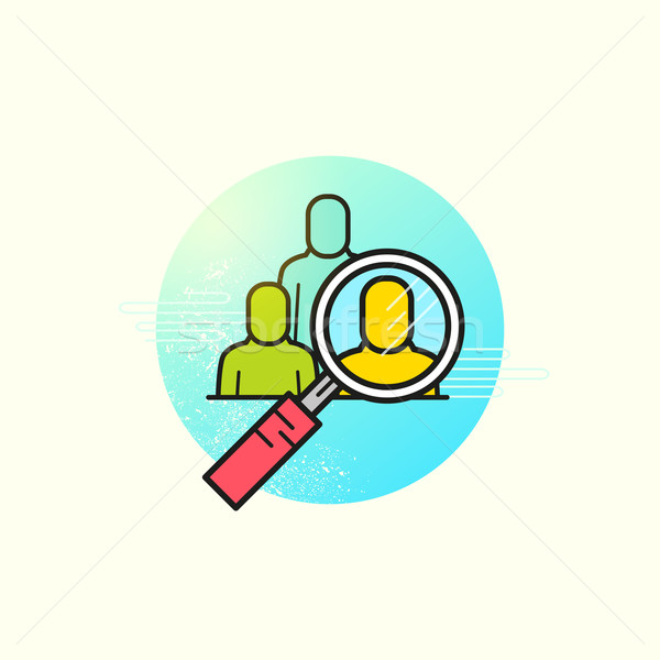 Headhunting Business Vector Stock photo © solarseven