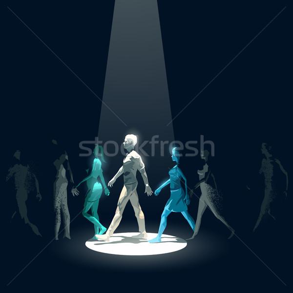 áll ki tömeg reflektor nyaláb mutat Stock fotó © solarseven