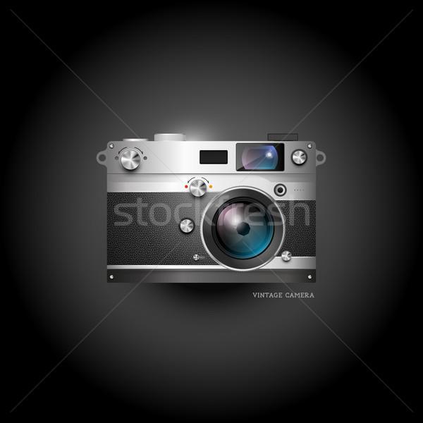 Retro Camera Icon Stock photo © solarseven