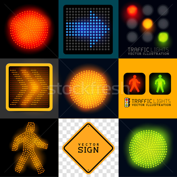 Vector Tracffic Lights Collection Vector Illustration James Thew