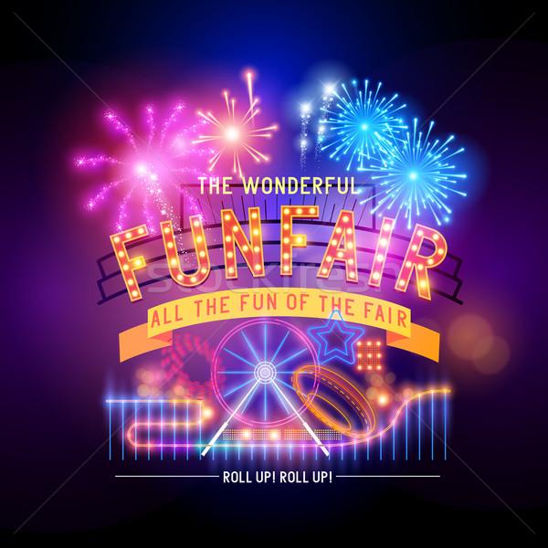 Retro Fairground Circus Sign Stock photo © solarseven