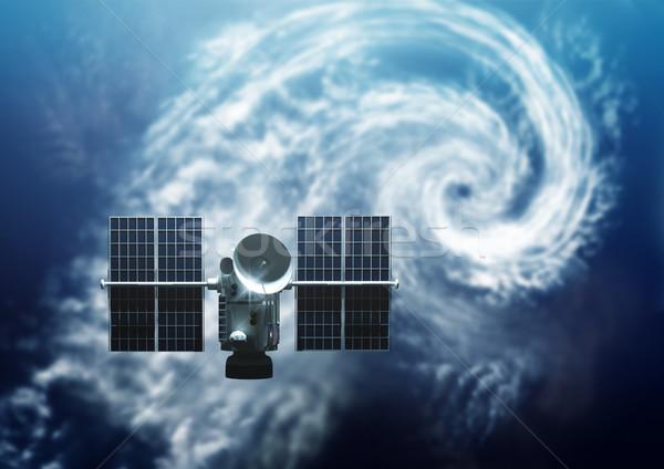 Satélite terra tempo abaixo tropical tempestade Foto stock © solarseven