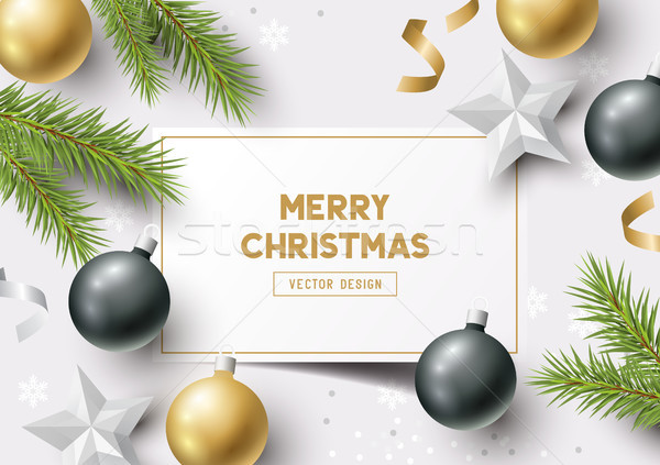 Christmas Composition Vector Stock photo © solarseven