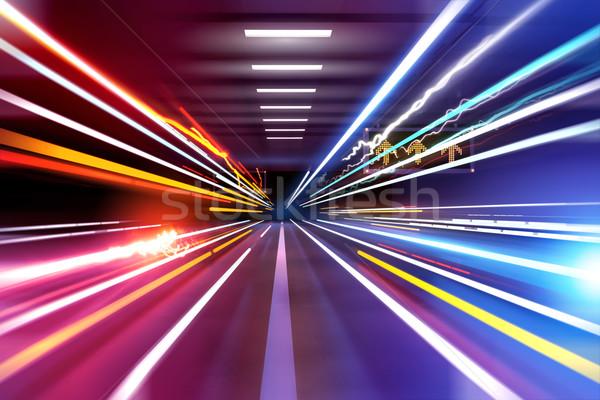 Car Light Trails Stock photo © solarseven