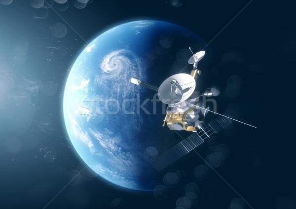 衛星 地球 スペース 3次元の図 技術 ストックフォト © solarseven