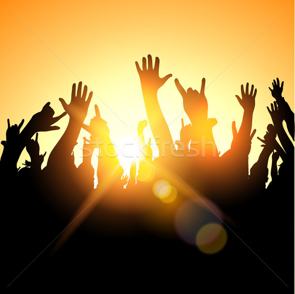 Festival Crowd Stock photo © solarseven