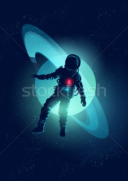 Astronaut Floating In Space Stock photo © solarseven