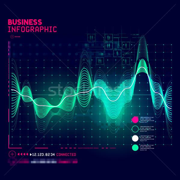 Infografiki szczegółowy techniczne wykres biznesowych Zdjęcia stock © solarseven