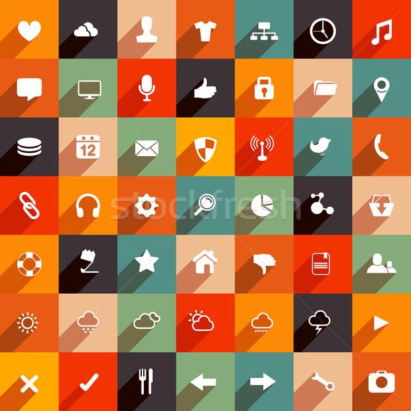 Stockfoto: Moderne · icon · collectie · vector · ingesteld · ontwerp
