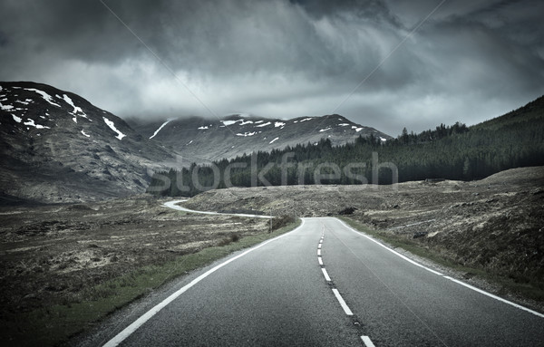 Road into Mountain Range Stock photo © solarseven