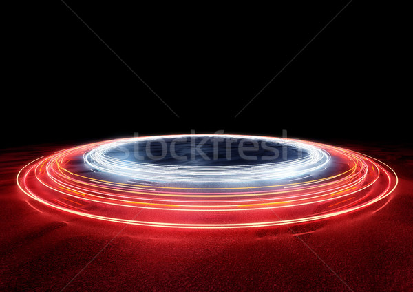 Circle Of Car Trail Lights Stock photo © solarseven