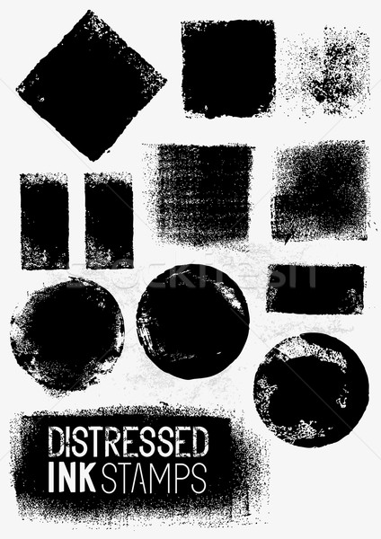 Distressed Vector Paint Stains Stock photo © solarseven