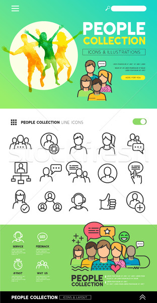 Social People Collection Stock photo © solarseven