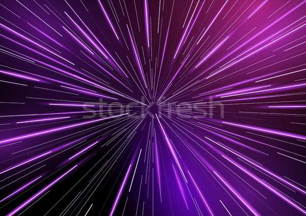 Retro Warp Star light Beams Stock photo © solarseven