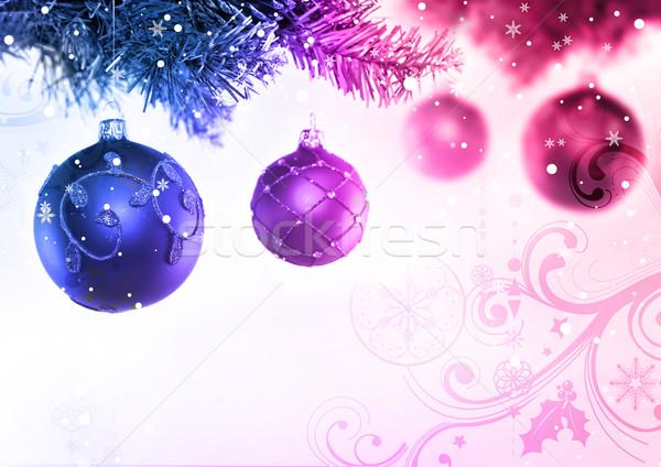 Christmas Tree & Baubles Stock photo © solarseven