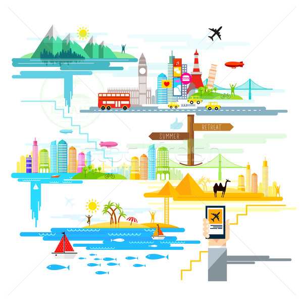 Holidays And Trips Abroad! Stock photo © solarseven