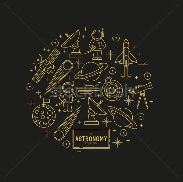 Astronomy Vector Icon Set Stock photo © solarseven
