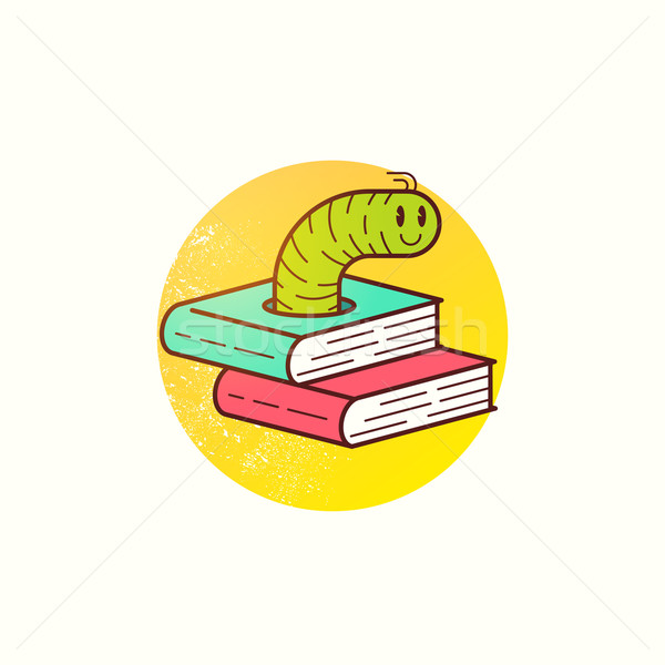 Book Worm Vector Stock photo © solarseven