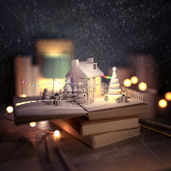 Stock photo: Christmas Story Pop Up Book
