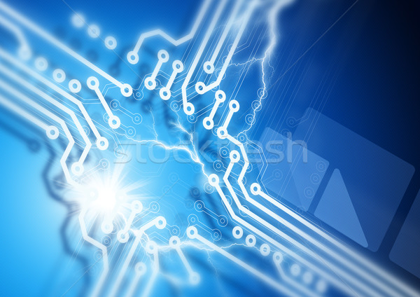 Nyáklap fúzió absztrakt hálózat kék kommunikáció Stock fotó © solarseven