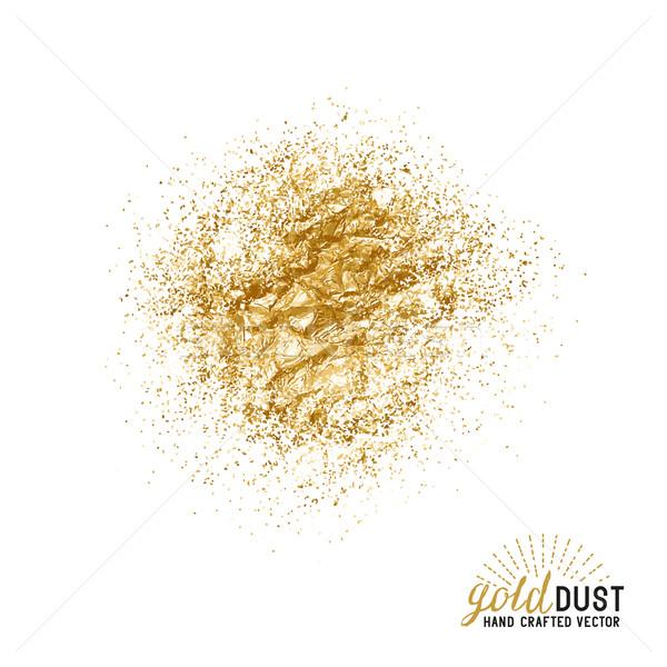 ベクトル 金 ほこり 粒子 ファッション デザイン ストックフォト © solarseven