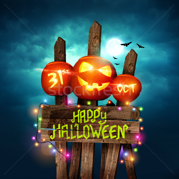 Happy Halloween background Stock photo © solarseven