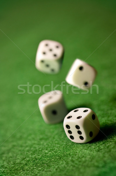 Rolling Dice Stock photo © solarseven